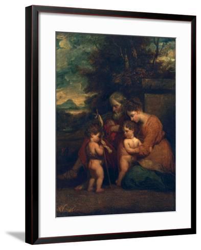 Holy Family-Sir Joshua Reynolds-Framed Art Print