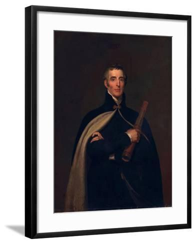 Arthur Wellesley, Duke of Wellington, with a Telescope-Thomas Lawrence-Framed Art Print