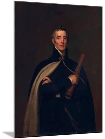 Arthur Wellesley, Duke of Wellington, with a Telescope-Thomas Lawrence-Mounted Giclee Print