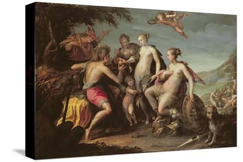 The Judgement of Paris-Johann or Hans von Aachen-Stretched Canvas Print