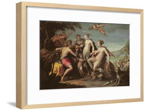 The Judgement of Paris-Johann or Hans von Aachen-Framed Art Print