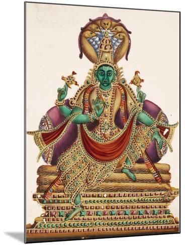 Vishnu, Sheltered by the Five-Headed Shesha, One of the Primal Beings of Creation, from…--Mounted Giclee Print