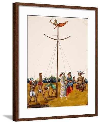 Scenes of Acrobatics During a Festival, from Thanjavur, India--Framed Art Print