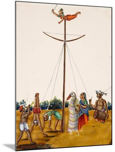 Scenes of Acrobatics During a Festival, from Thanjavur, India--Mounted Giclee Print