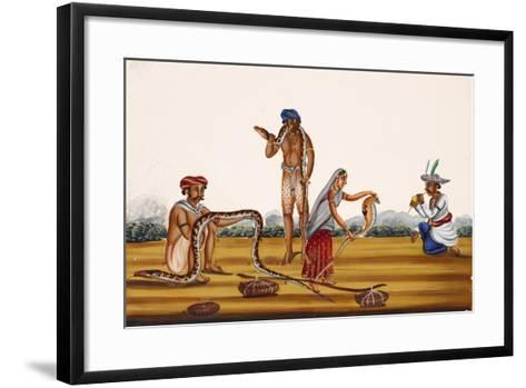 Hunting People Busy with Snakes, from Thanjavur, India--Framed Art Print
