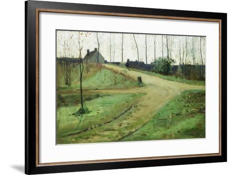An October Morning-William Stott-Framed Art Print