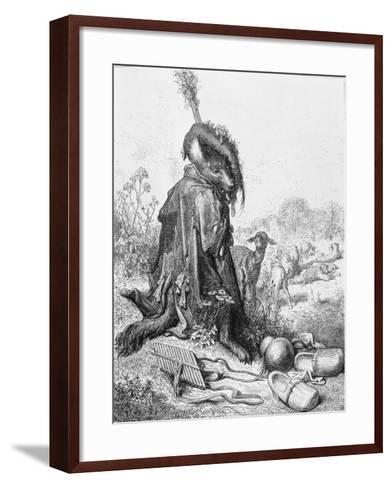The Wolf Turned Shepherd, Illustration from 'Fables' by La Fontaine, 1868-Gustave Dor?-Framed Art Print