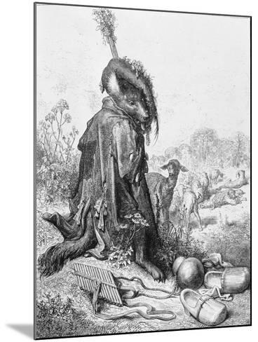 The Wolf Turned Shepherd, Illustration from 'Fables' by La Fontaine, 1868-Gustave Dor?-Mounted Giclee Print