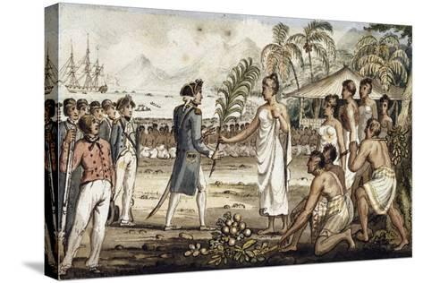 Oatehite, Illustration from 'The Voyages of Captain Cook'-Isaac Robert Cruikshank-Stretched Canvas Print