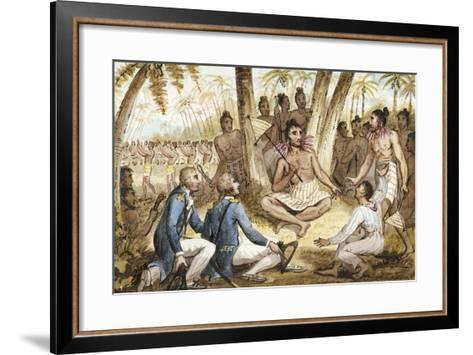 Illustration from 'The Voyages of Captain Cook'-Isaac Robert Cruikshank-Framed Art Print