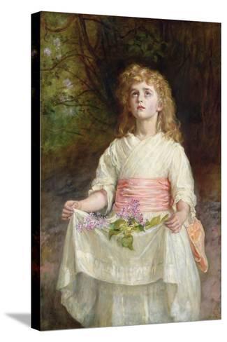 Lilacs, 1885-John Everett Millais-Stretched Canvas Print