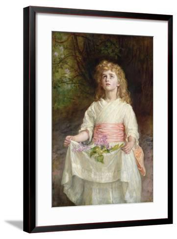 Lilacs, 1885-John Everett Millais-Framed Art Print