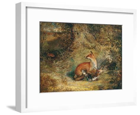 A Fox with a Pheasant-George Havell-Framed Art Print