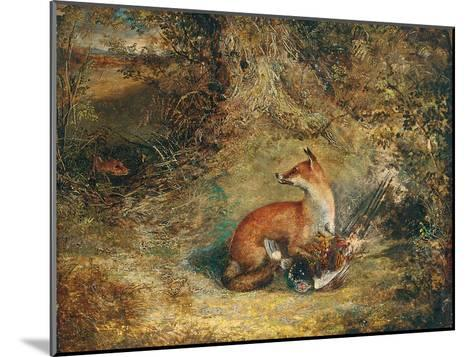 A Fox with a Pheasant-George Havell-Mounted Giclee Print