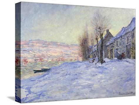 Lavacourt under Snow, 1881-Claude Monet-Stretched Canvas Print