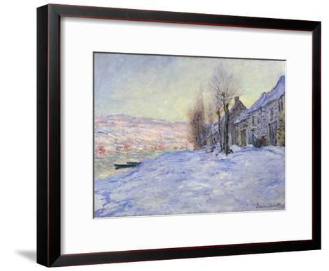 Lavacourt under Snow, 1881-Claude Monet-Framed Art Print