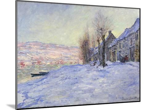Lavacourt under Snow, 1881-Claude Monet-Mounted Giclee Print
