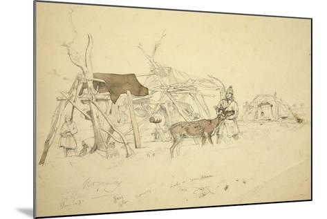 Lapps and Reindeer Beside Huts, North Norway, C.1850-Godfrey Thomas Vigne-Mounted Giclee Print