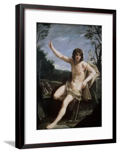 St. John the Baptist in the Wilderness, C.1636-37-Guido Reni-Framed Art Print