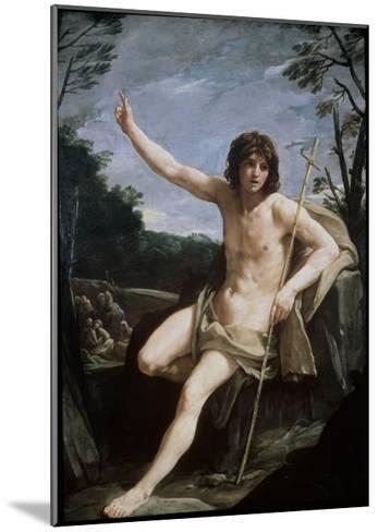 St. John the Baptist in the Wilderness, C.1636-37-Guido Reni-Mounted Giclee Print