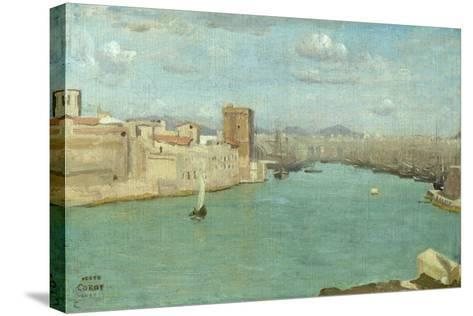 Marseille: the Old Port, 1843-Jean-Baptiste-Camille Corot-Stretched Canvas Print