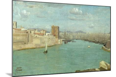 Marseille: the Old Port, 1843-Jean-Baptiste-Camille Corot-Mounted Giclee Print