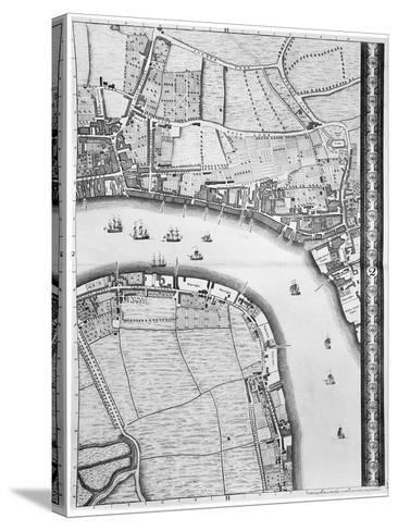 A Map of Limehouse and Rotherhithe, London, 1746-John Rocque-Stretched Canvas Print
