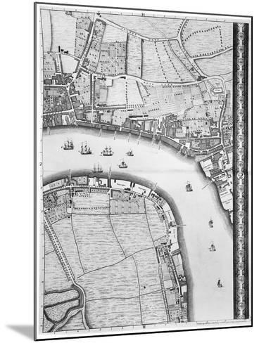 A Map of Limehouse and Rotherhithe, London, 1746-John Rocque-Mounted Giclee Print