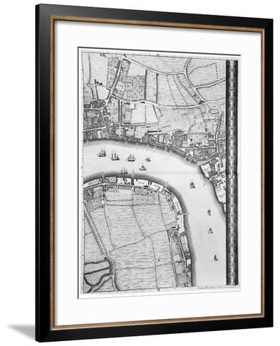 A Map of Limehouse and Rotherhithe, London, 1746-John Rocque-Framed Art Print
