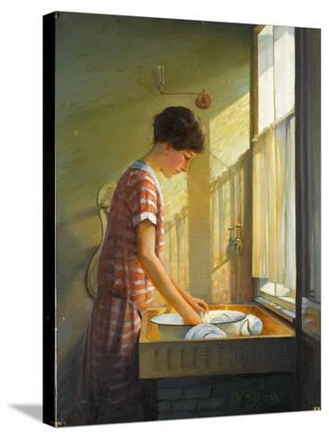 Washing Up, C.1924-25-Walter Bonner Gash-Stretched Canvas Print