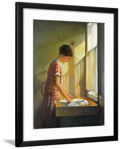 Washing Up, C.1924-25-Walter Bonner Gash-Framed Art Print