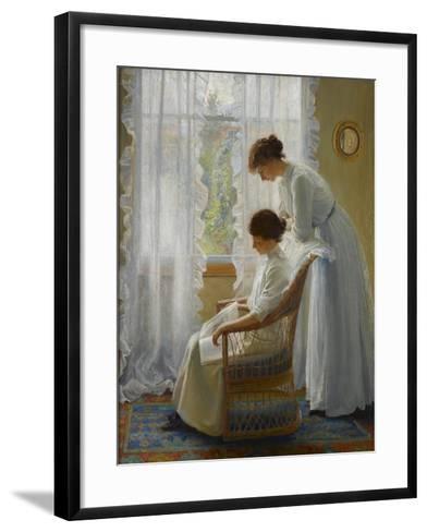 The New Book, C.1912-Walter Bonner Gash-Framed Art Print