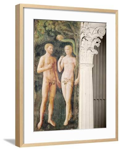 The Temptation of Adam and Eve, C.1423-25-Tommaso Masolino Da Panicale-Framed Art Print