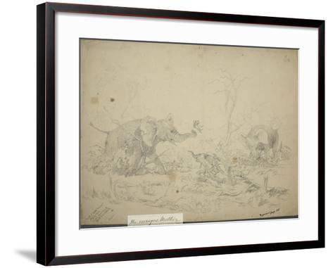 The Enraged Mother, C.1862-Thomas Baines-Framed Art Print