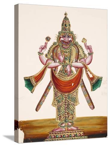 Vishnu as the Man-Lion Lord Narasimha, from Thanjavur, India--Stretched Canvas Print