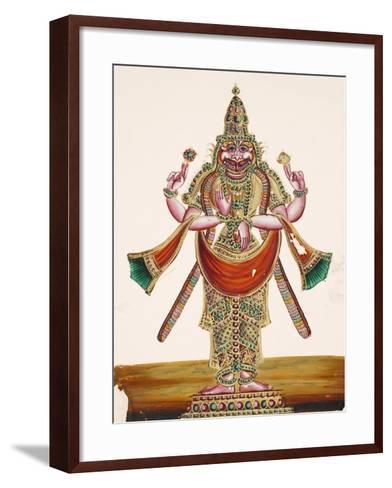 Vishnu as the Man-Lion Lord Narasimha, from Thanjavur, India--Framed Art Print