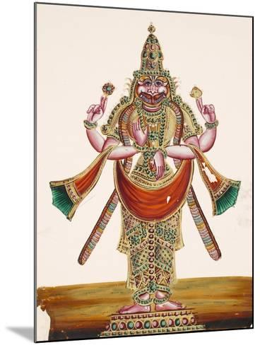Vishnu as the Man-Lion Lord Narasimha, from Thanjavur, India--Mounted Giclee Print