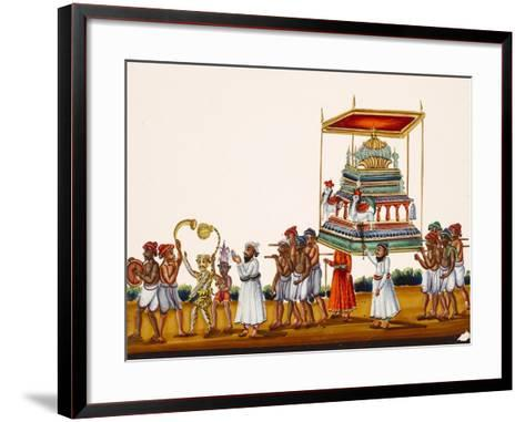 A Procession, Possibly for Muharram in South India, from Thanjavur, India--Framed Art Print