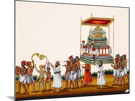 A Procession, Possibly for Muharram in South India, from Thanjavur, India--Mounted Giclee Print