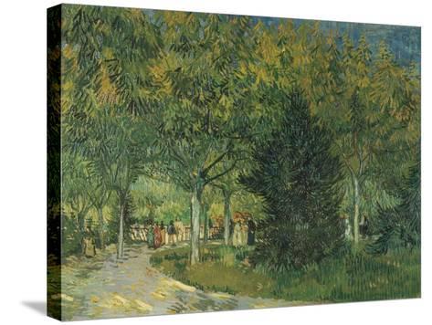 Promenaders, Jardin Du Poete, Arles, 1888-Vincent van Gogh-Stretched Canvas Print