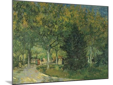 Promenaders, Jardin Du Poete, Arles, 1888-Vincent van Gogh-Mounted Giclee Print