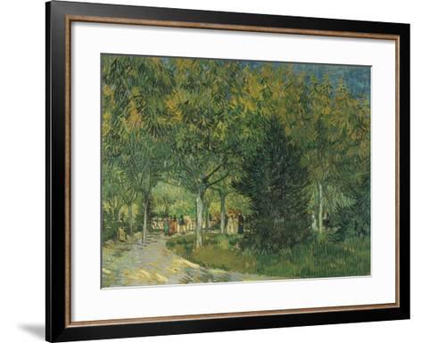 Promenaders, Jardin Du Poete, Arles, 1888-Vincent van Gogh-Framed Art Print