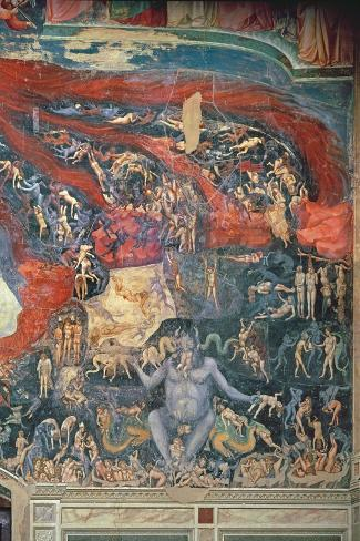 The Last Judgement, Detail of Hell, 1303-05-Giotto di Bondone-Stretched Canvas Print