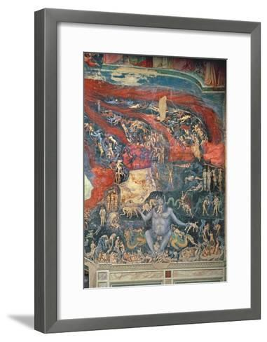 The Last Judgement, Detail of Hell, 1303-05-Giotto di Bondone-Framed Art Print