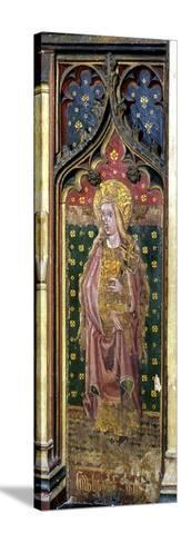 St. Helena, Detail of the Rood Screen, St. Agnes Church, Cawston, Norfolk, Uk--Stretched Canvas Print