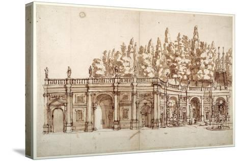 Villa Aldobrandini at Frascati--Stretched Canvas Print