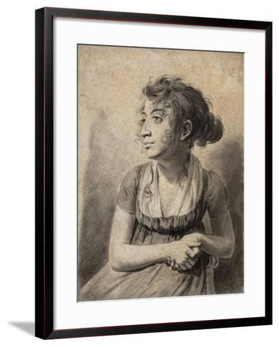 Seated Young Woman-Louis Leopold Boilly-Framed Art Print