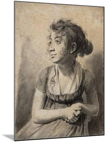 Seated Young Woman-Louis Leopold Boilly-Mounted Giclee Print