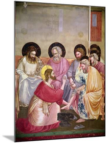Christ Washing the Disciples' Feet, Detail of Christ and Six Disciples, C.1303-05-Giotto di Bondone-Mounted Giclee Print