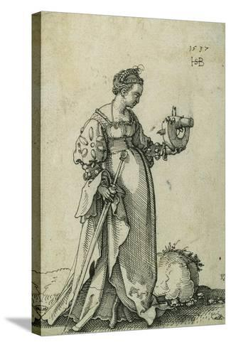 St. Catherine of Alexandria, 1537-Hans Sebald Beham-Stretched Canvas Print